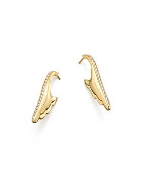 Temple St. Clair - 18K Yellow Gold Wing Pavé Diamond Earrings - 100% Exclusive