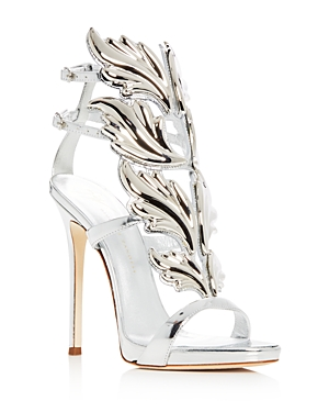 Giuseppe Zanotti Women's Coline Cruel Patent Leather Wing Embellished High Heel Sandals
