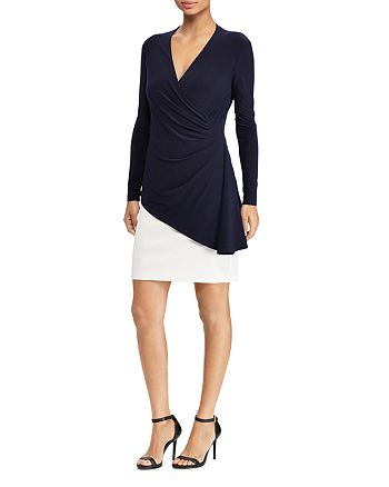 Ralph Lauren - Contrast Layered-Look Dress