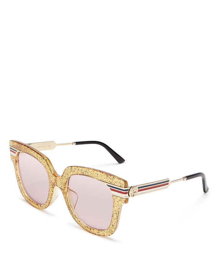 7c9439e0430 Gucci - Women s Glitter Oversized Square Sunglasses