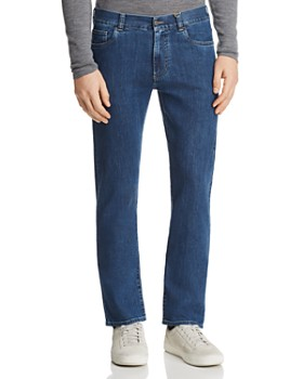 Canali - Stretch New Straight Fit Jeans in Blue Denim