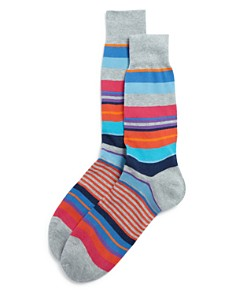 The Men's Store at Bloomingdale's Multi-Stripe Socks - 100% Exclusive_0