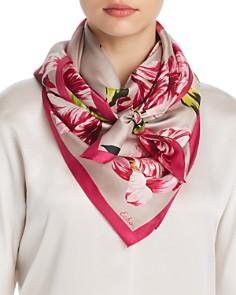 Echo Buckingham Tulip Print Silk Square Scarf - Bloomingdale's_0