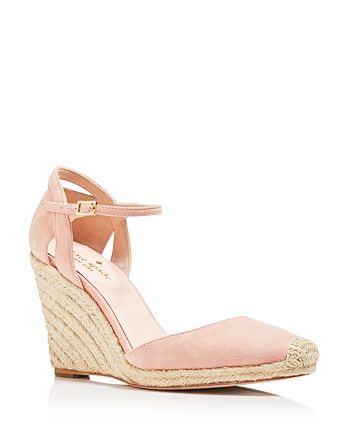 e3b045a8c09 kate spade new york Women's Giovanna Suede Espadrille Wedge Pumps ...