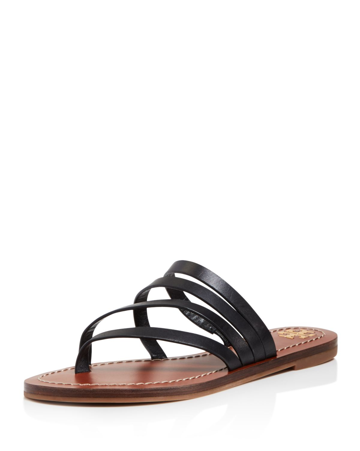 Tory Burch Women's Patos Strappy Leather Thong Sandals