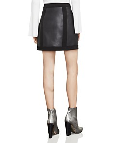BCBGMAXAZRIA - Roxy Faux-Leather Detail Mini Skirt