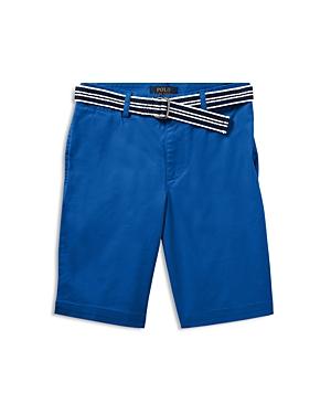 Ralph Lauren Childrenswear Boys SlimFit Belted Stretch Shorts  Big Kid