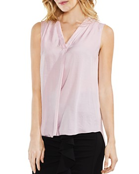 VINCE CAMUTO - Shirred High/Low Tank