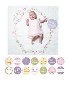 Lulujo Isn't She Lovely Baby Blanket & Age Cards Set - Bloomingdale's_0