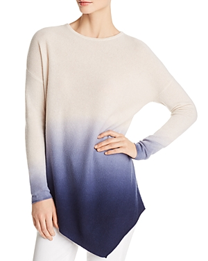 C by Bloomingdale's Asymmetric Dip-Dye Cashmere Sweater - 100% Exclusive