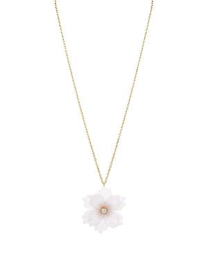 Aqua Floral Pendant Necklace, 30 - 100% Exclusive
