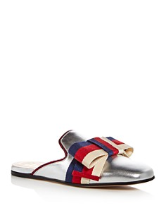 Gucci - Women's Leather Bow Mules