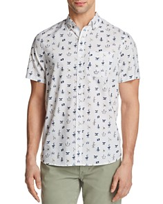 Michael Bastian Ocean Matters Print Short Sleeve Button-Down Shirt - Bloomingdale's_0