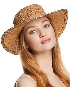 AQUA Metallic-Trim Boater Hat - 100% Exclusive - Bloomingdale's_0