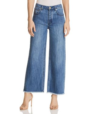 Michael Michael Kors Wide-Leg Cropped Jeans in Antique Wash - 100% Exclusive 2849803