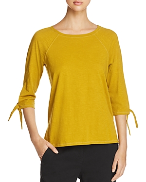 Eileen Fisher Tie Cuff Raglan Tee - 100% Exclusive