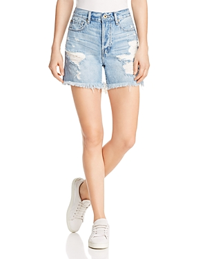 Pistola Devin Mom Cutoff Denim Shorts in Savage Blue
