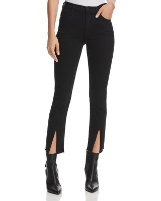 $MOTHER Insider Slit Cropped Fray Jeans in Not Guilty - Bloomingdale's