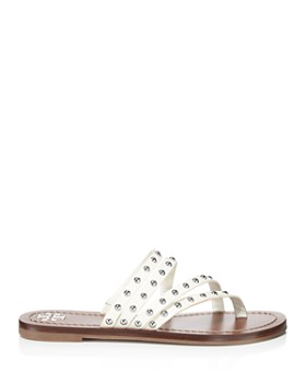Tory Burch - Women's Patos Studded Leather Thong Sandals