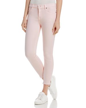 7 For All Mankind Ankle Skinny Jeans in Pink Sunrise 2859960