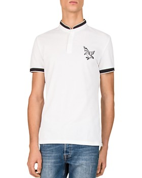 The Kooples - Cuba Embroidered Piqué Slim Fit Polo