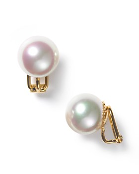 Majorica Simulated Pearl Clip On Earrings