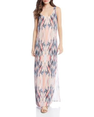 Karen Kane Abstract Ikat-Print Maxi Dress 2858325