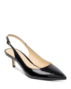 IVANKA TRUMP WOMEN'S ALETH PATENT LEATHER POINTED TOE SLINGBACK PUMPS