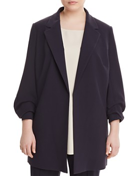 Lafayette 148 New York Plus - Henrik Ruched-Sleeve Blazer