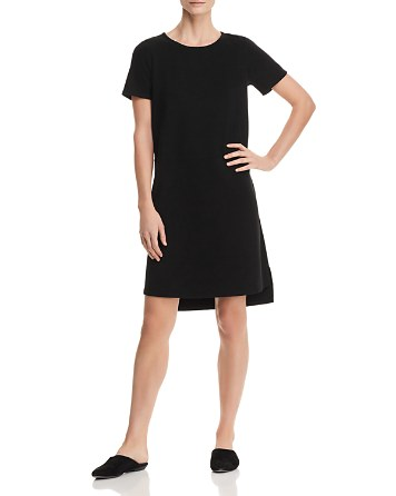 Eileen Fisher Petites Ponte Knit Step-Hem Dress