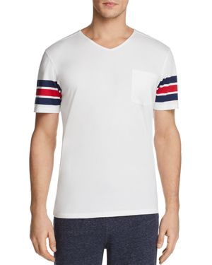 Daniel Buchler Striped Lounge V-Neck Tee