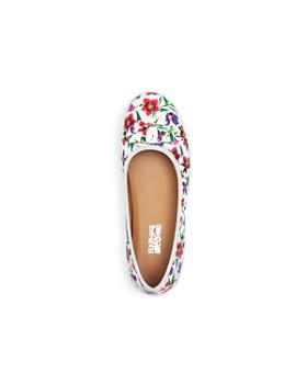 Salvatore Ferragamo - Girls' Floral Print Leather Sneaker Flats - Toddler, Little Kid, Big Kid