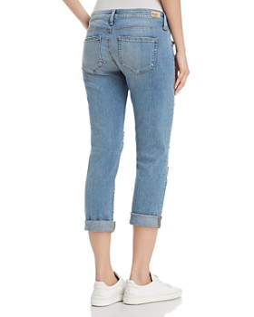 PAIGE - Brigitte Straight Jeans in Janis Destructed