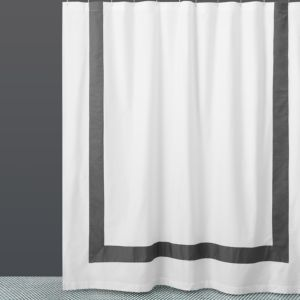 Hudson Park Collection Border Shower Curtain - 100% Exclusive