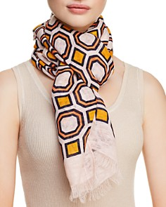 Tory Burch Octagon Print Oblong Scarf - Bloomingdale's_0