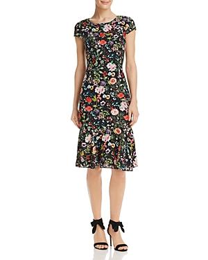 Adrianna Papell Bloom-Print Dress