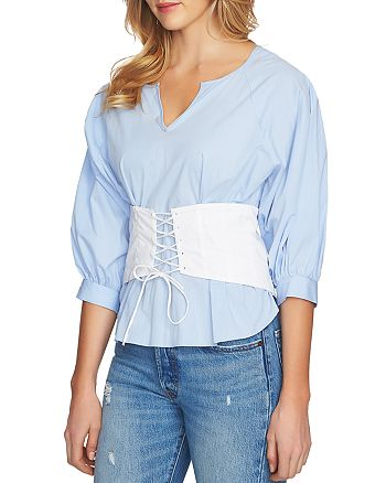 1.STATE - Corset-Lace-Up Top