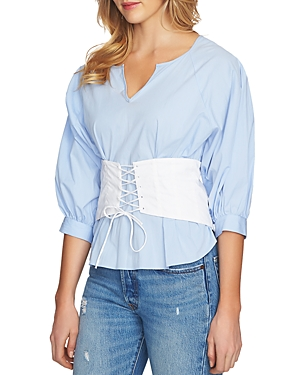 1.state  CORSET-LACE-UP TOP