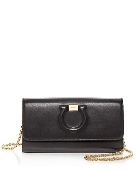 Salvatore Ferragamo - Gancini City Leather Chain Wallet