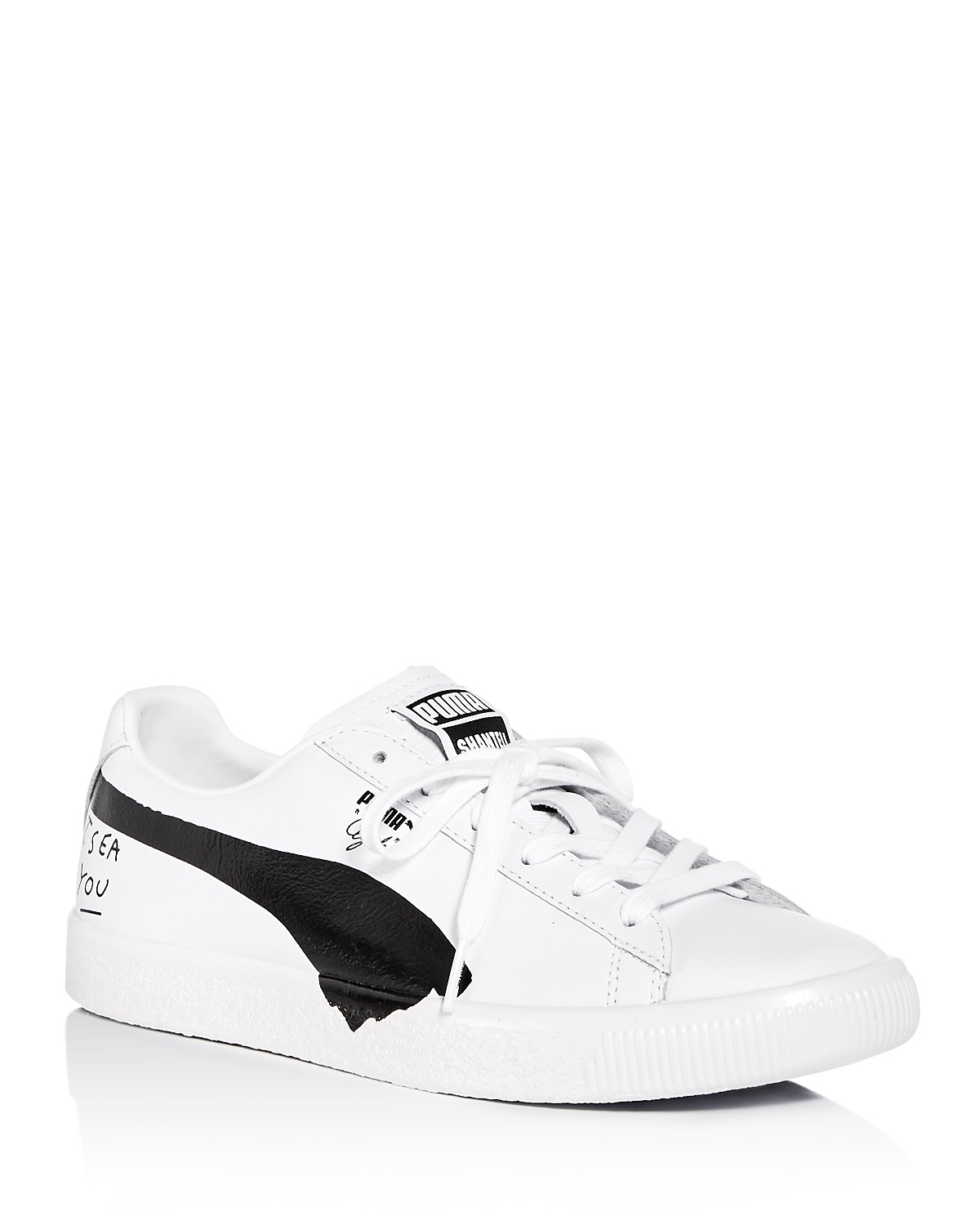 Puma X Shantell Martin Women's Clyde Leather Lace Up Sneakers dGh7a