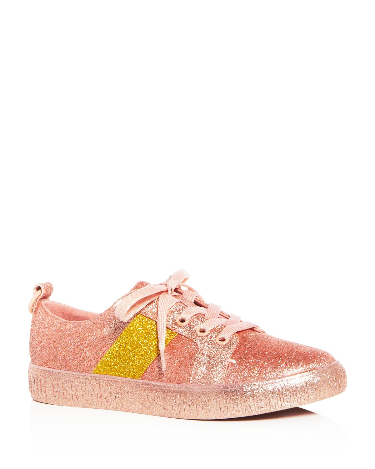 Opening Ceremony Women's La Cienega Glitter Lace Up Platform Sneakers