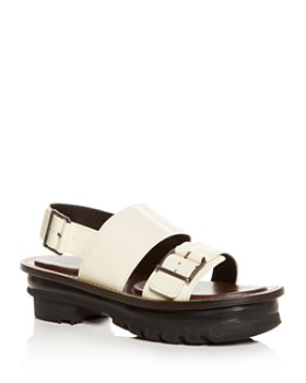 Marni - Women's Leather Slingback Platform Sandals