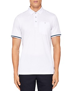 Ted Baker - Puggle Stripe-Cuff Regular Fit Polo Shirt