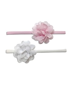 Baby Bling - Infant Girls' Mini Chiffon Flower Headbands, Set of 2 - 100% Exclusive