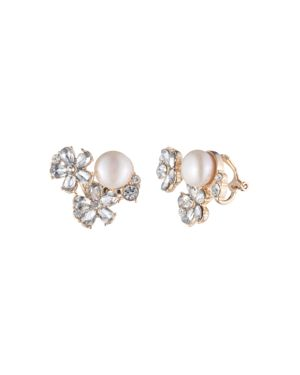 Carolee Cultured Freshwater Pearl Cluster Clip Earrings
