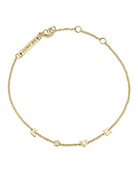Zoë Chicco - 14K Yellow Gold Tiny Love Diamond Bracelet