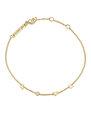 Zoe Chicco 14K Yellow Gold Tiny Love Diamond Bracelet-Jewelry & Accessories