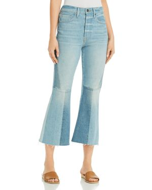 Frame Le Panel Cropped Flared Jeans in Hurley