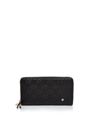 $Tory Burch Fleming Zip Continental Leather Wallet - Bloomingdale's