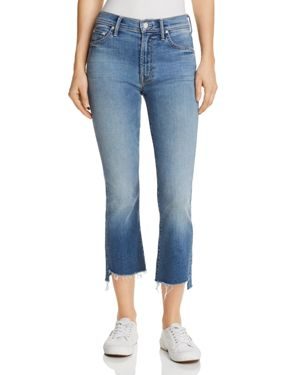 INSIDER CROP STEP-HEM FRAY JEANS IN ONE SMART - 100% EXCLUSIVE